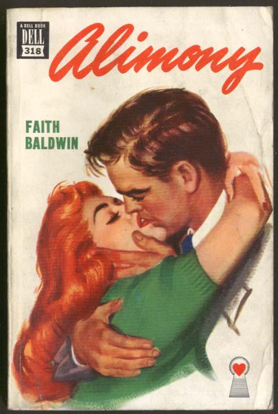 Faith Baldwin: Alimony Dell Mapback #318 GGA redhead & man kissing