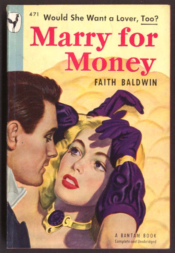 Faith Baldwin: Marry for Money GGA pb blonde purple gloves