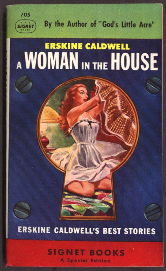 Erskine Caldwell: A Woman In The House GGA pb keyhole peep woman undresses
