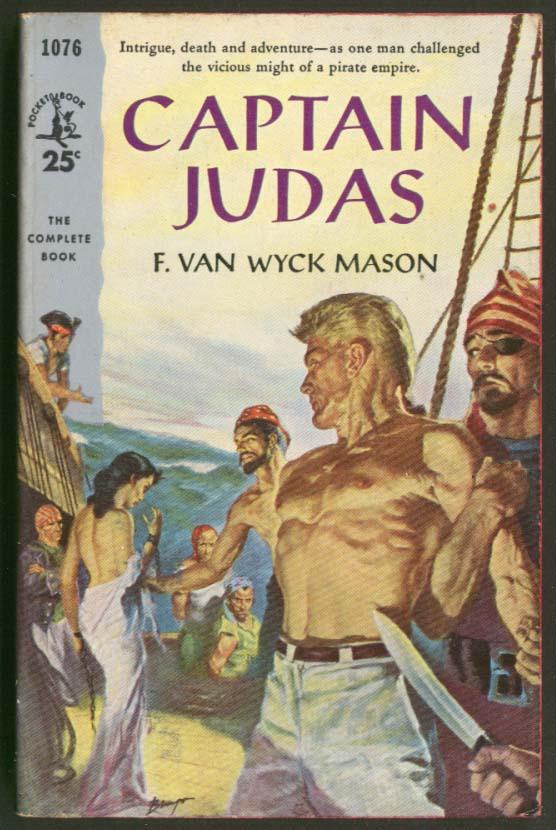 Image for F van Wyck Mason: Captain Judas GGA pb beefcake nude maiden pirates knife