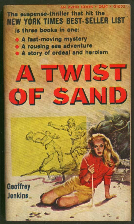 Geoffrey Jenkins: A Twist of Sand GGA pb blonde on beach men fistfight