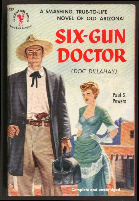 Paul S Powers: Six-Gun Doctor GGA pb pistol blonde cleavage