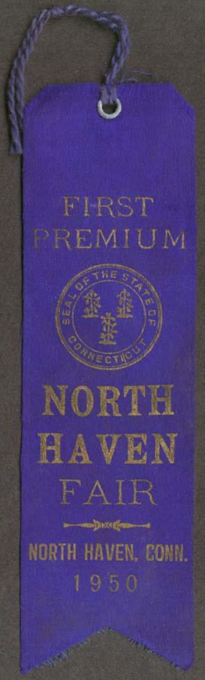 North Haven CT Fair 1st Premium Blue Ribbon 1950