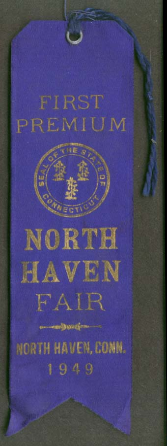 North Haven CT Fair 1st Premium Blue Ribbon 1949