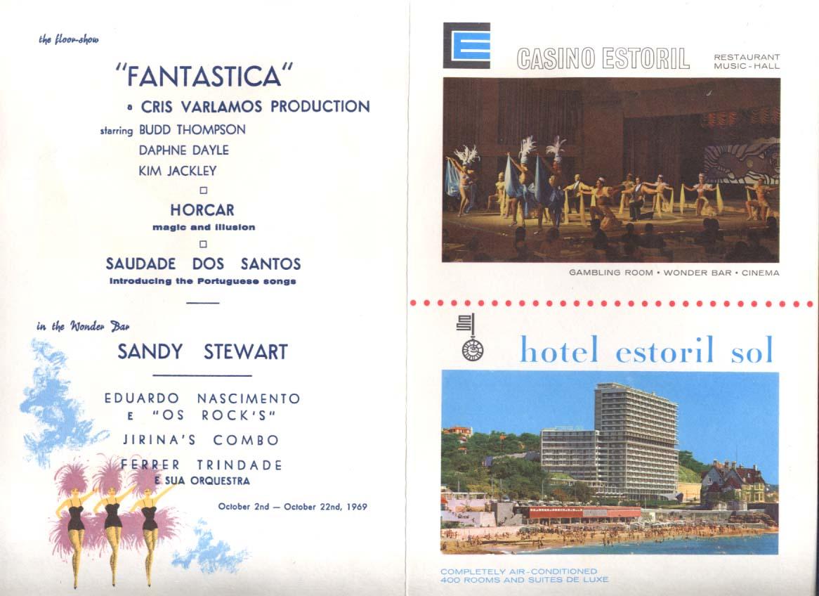 Casino Estoril Floor Show Program Hotel Estoril Sol Portugal 1969