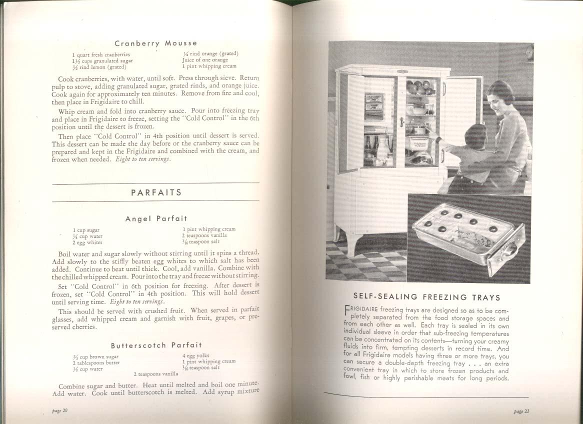 Frigidaire Refrigerator Recipe Book & Feature Booklet 1931