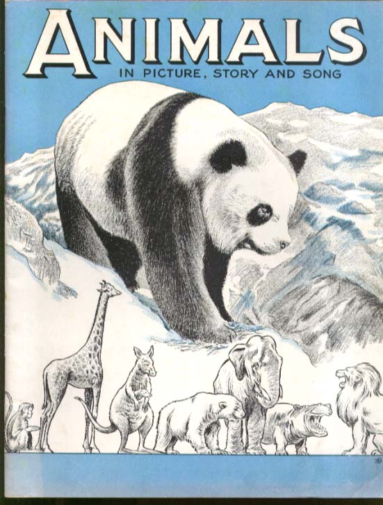 Animals in Picture Story & Song music book  Boston Music 1942