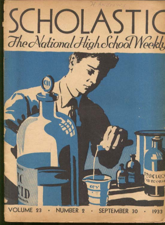 Consumer & NRA Cuba US Air Route via Iceland SCHOLASTIC High School Weekly 1933