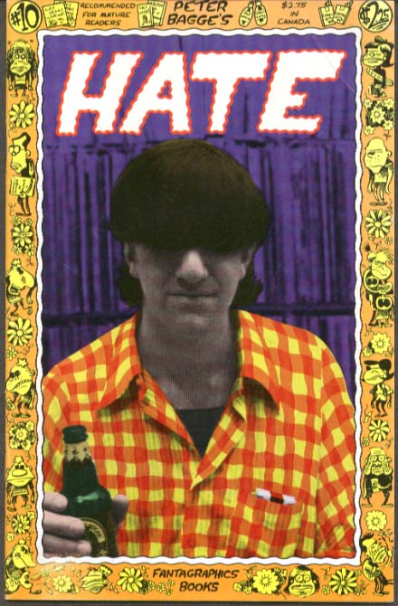Peter Bagge's Hate #10 Underground Comix 1st printing 9 1992