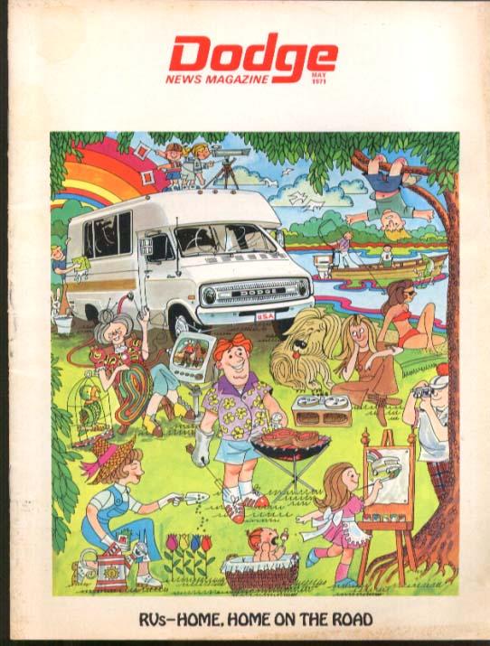 RV & Camper Issue DODGE NEWS 5 1971