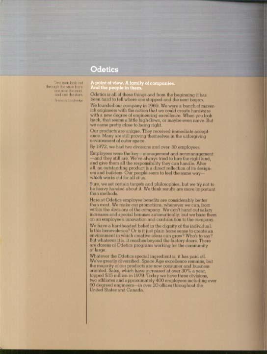 Odetics Family Spaceborne Multi-Link Omutec Gyyr Videodetics Infodetics 1959 fdr