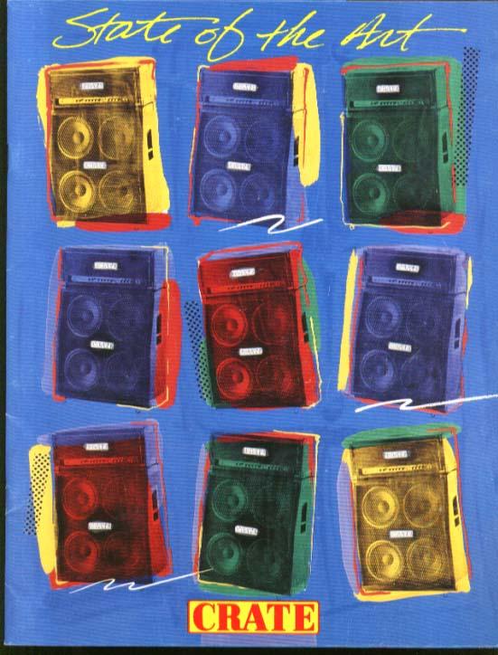 Crate Stack Amplifier Catalog 1987 BTO Autograph Cinderella Malmsteen REM AC/DC