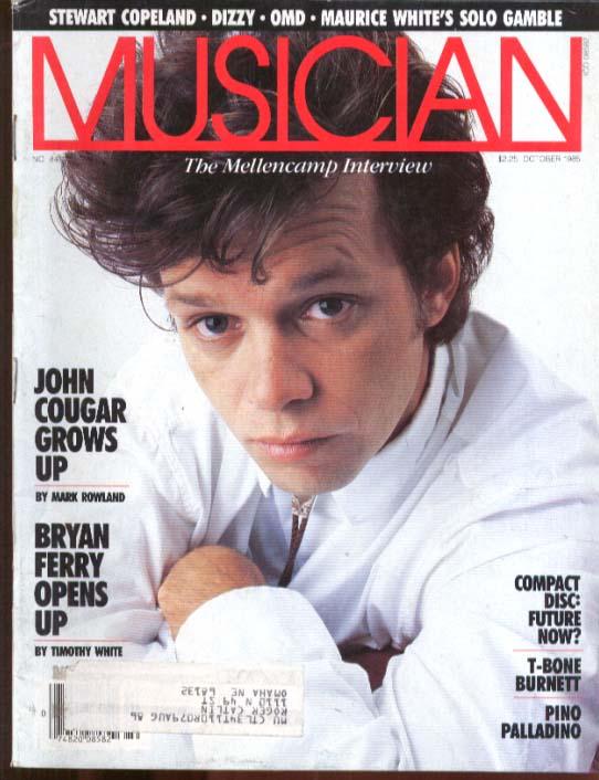 Mellencamp Bryan Ferry Dizzy OMD Maurice White T-Bone Burnett MUSICIAN 10 1985