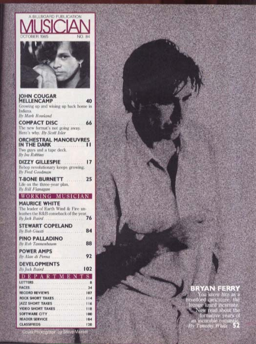 Image for Mellencamp Bryan Ferry Dizzy OMD Maurice White T-Bone Burnett MUSICIAN 10 1985