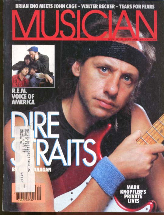 Dire Straits Knopfler REM Brian Eno John Cage Tears for Fears MUSICIAN 9 1985