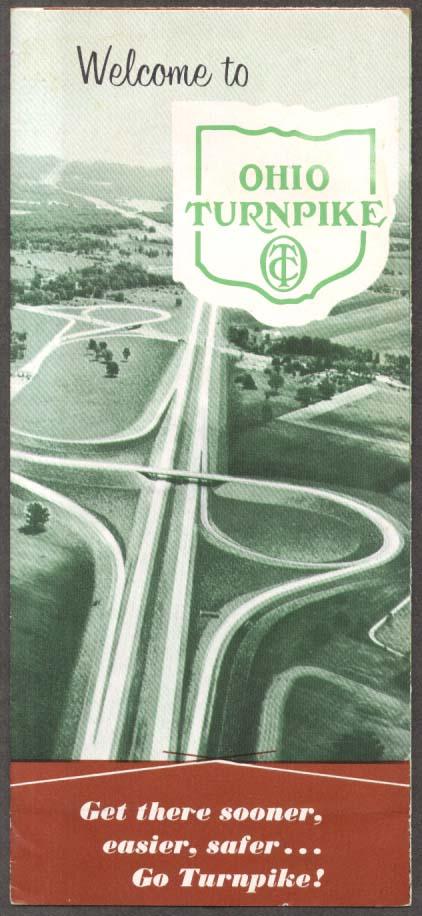 Welcome to the Ohio Turnpike map folder 1958