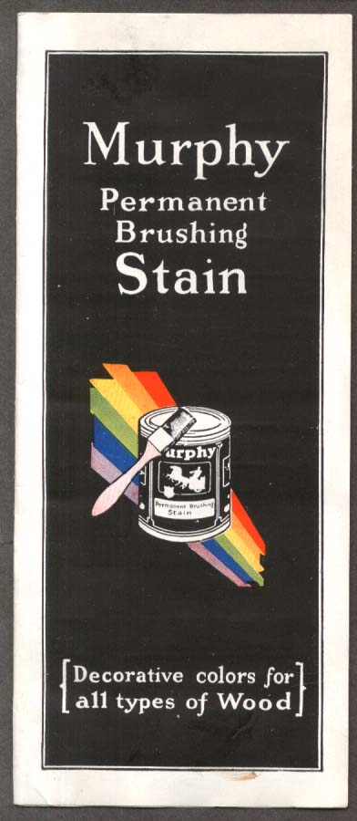 Murphy Permanent Brushing Stain Chip Chart 1930s Newark NJ