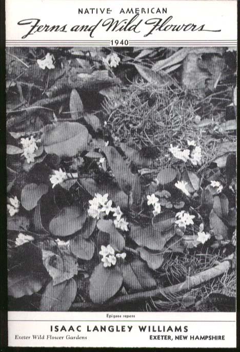 Isaac Langley Williams Native American Fern & Wild Flower Catalog 1940