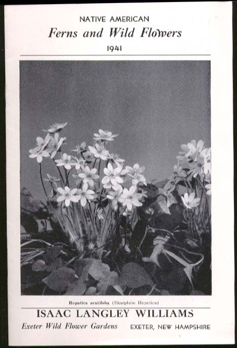 Image for Isaac Langley Williams Native American Fern & Wild Flower Catalog 1941