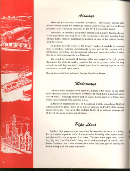 Open the Door to Industrial Opportunity in Missouri booklet 1945