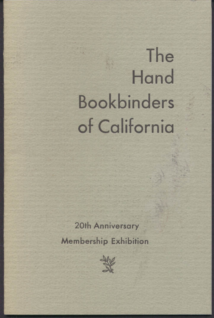 The Hand Bookbinders of Califormia Exhibition Catalog 1993