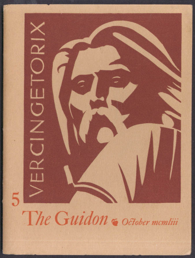The Guidon 10/1953 William Wittman woodblock & publisher