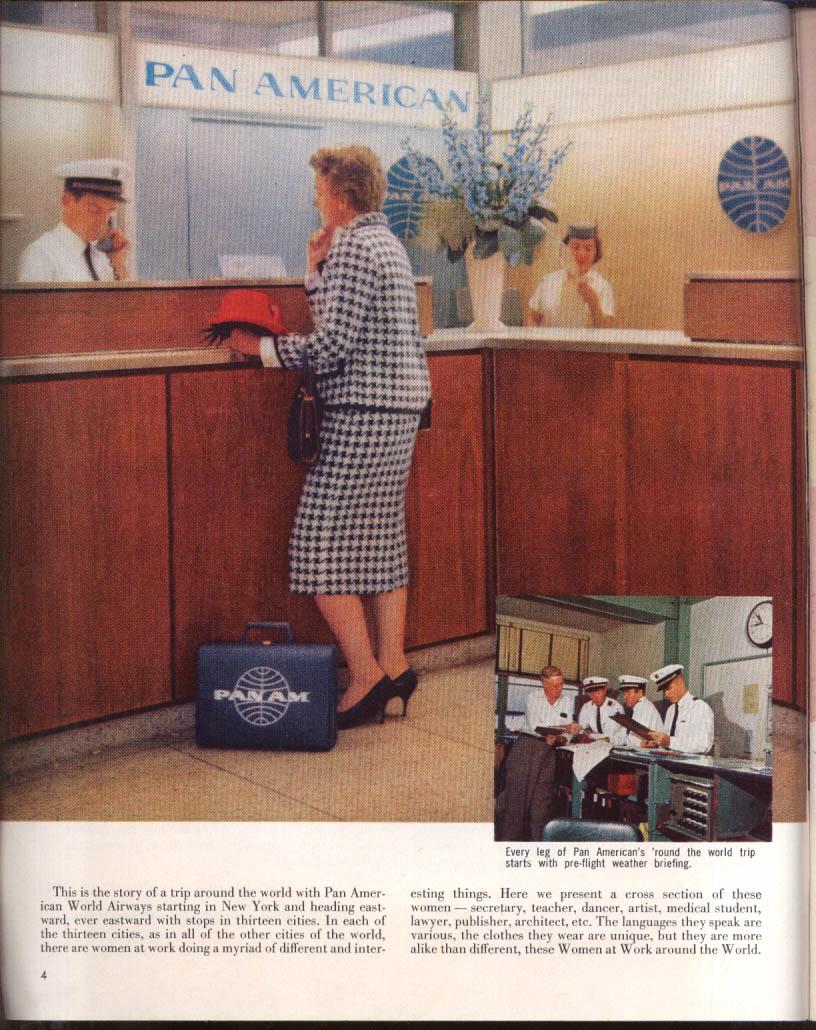 Women at Work Around the World via Pan Am FULLER BRUSH catalog 1960