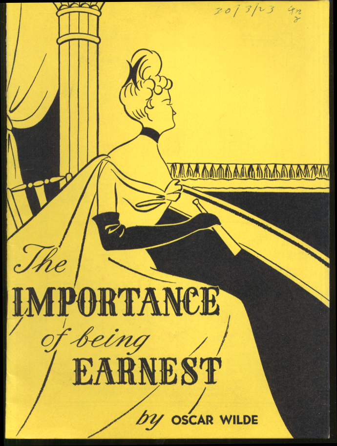 Importance of Being Earnest: Tokyo Amateur Dramatic Club program 1955