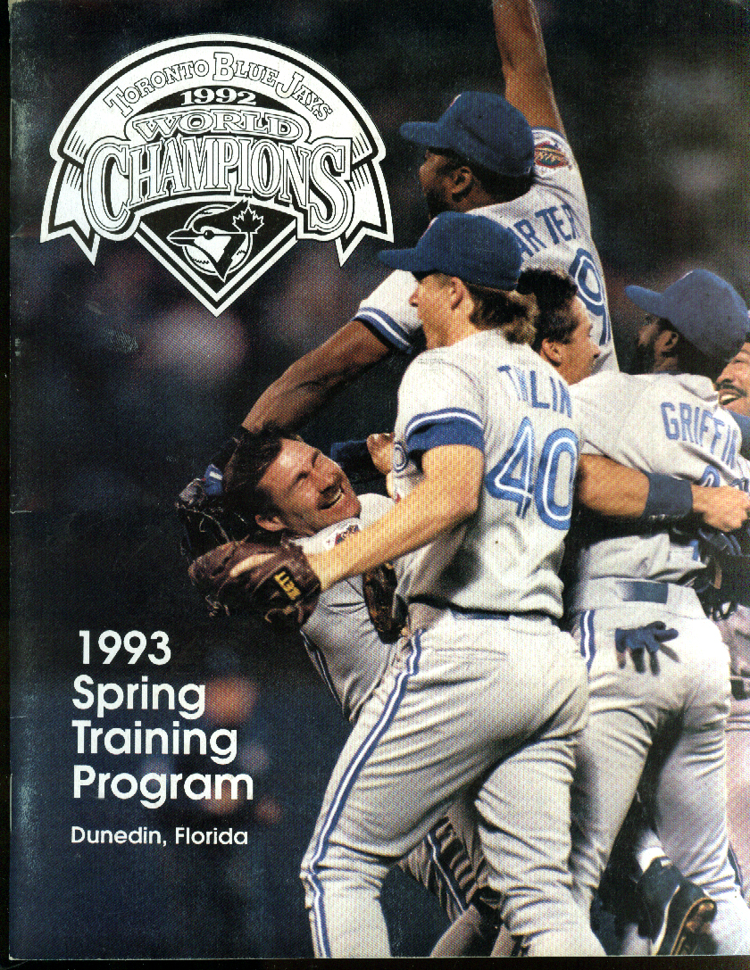 Toronto Blue Jays Spring Training Program vs White Sox 1993