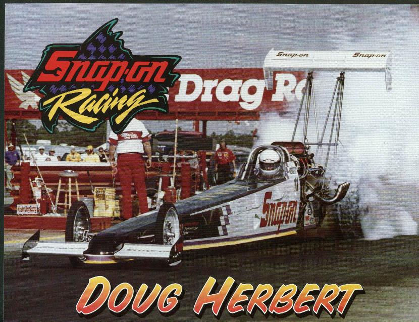 Doug Herbert Snap-on Racing Top Fuel Dragster NHRA print 1995