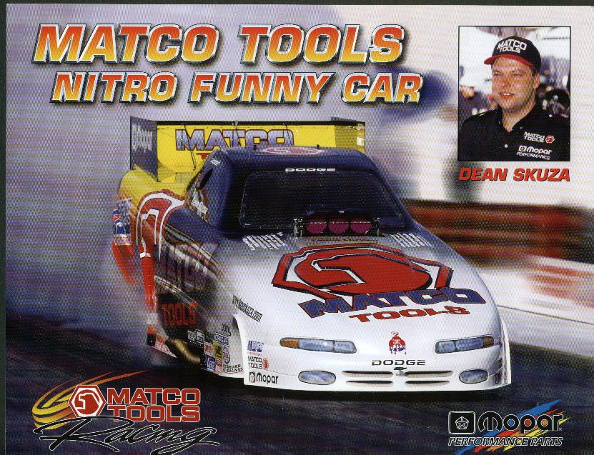 Dean Skuza Matco Tools Dodge Nitro Funny Car NHRA print 2000