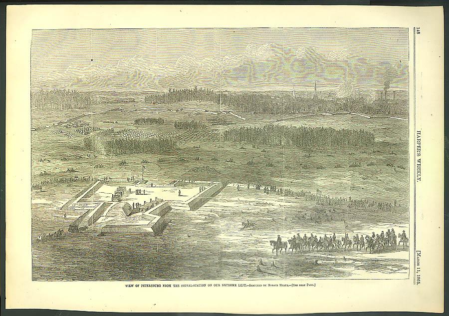 Image for Petersburg Virginia from Signal-Station Harper's Weekly ORIGINAL 3/11 1865