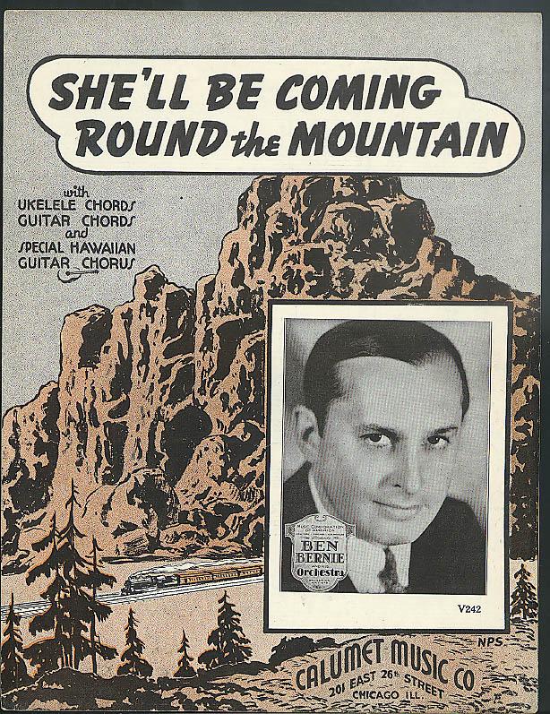 Shell Be Coming Round The Mountain Sheet Music 1935 Ben Bernie