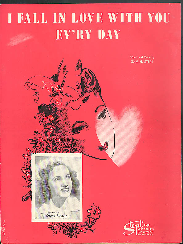I Fall in Love With You Ev'ry Day sheet music 1946 featured