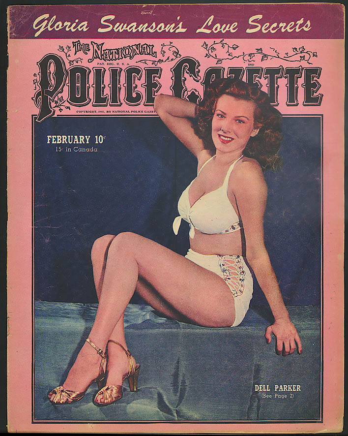POLICE GAZETTE Gloria Swanson Dell Parker Esther Williams Louis v Conn 2 1946