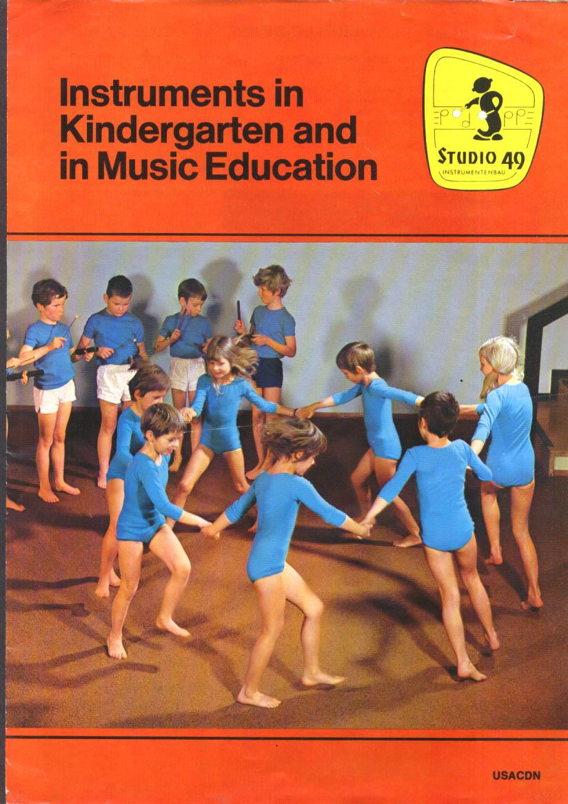 Magnamusic-Boston Studio 49 Instruments Kindergarten Music Education folder 1972