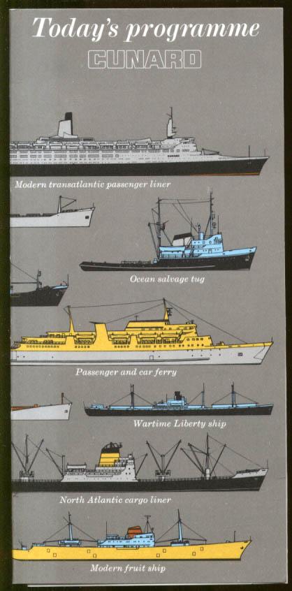 Cunard R M S Queen Elizabeth 2 Daily Programme 3/19 1972 West Indies Cruise