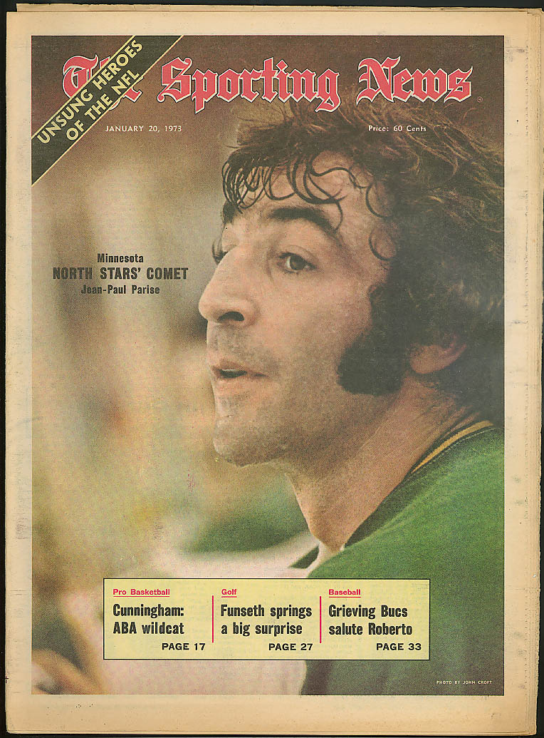 SPORTING NEWS Jean Paul Parise Clemente Billy Cunningham Rod