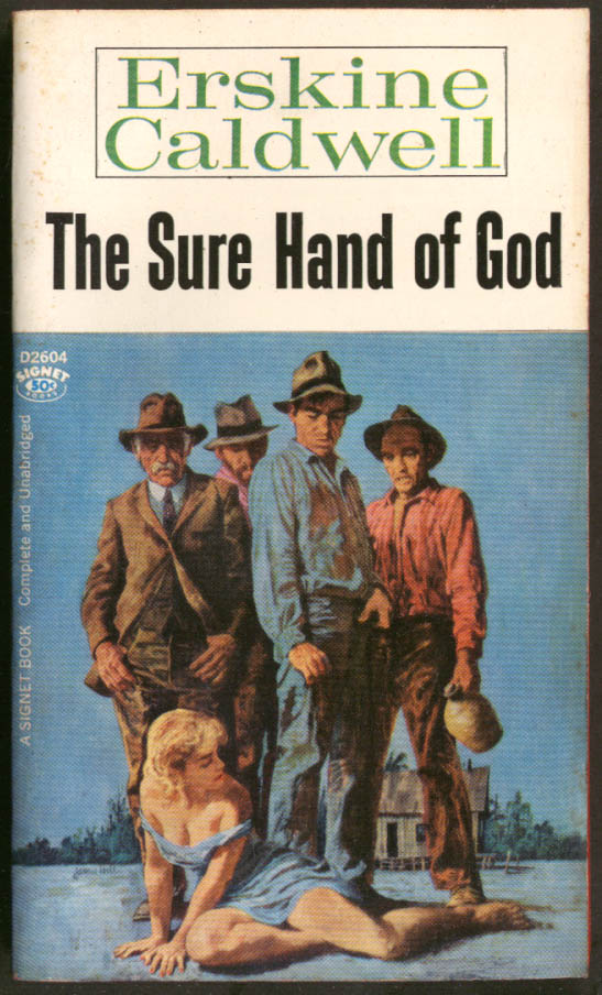 Erskine Caldwell The Sure Hand of God GGA pb 4 men blonde cleavage moonshine jug