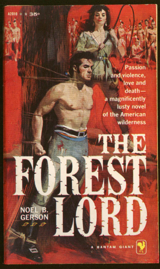 Noel B Gerson: The Forest Lord GGA pb beefcake man tied woman with whip Indians