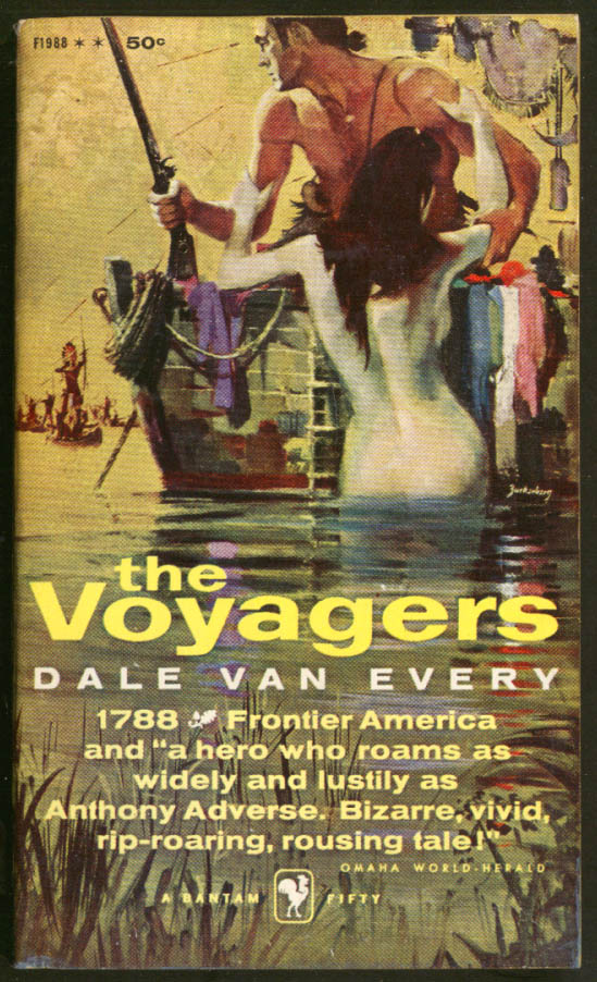 Dale Van Every: The Voyagers GGA frontier pb nude climbing into boat Indians