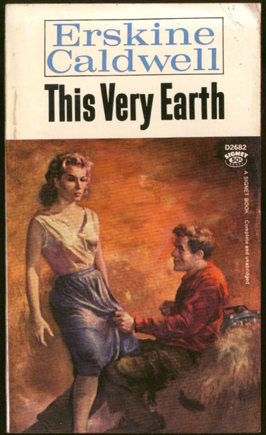 Erskine Caldwell: This Very Earth GGA pb guy grabs redhead's skirt cleavage
