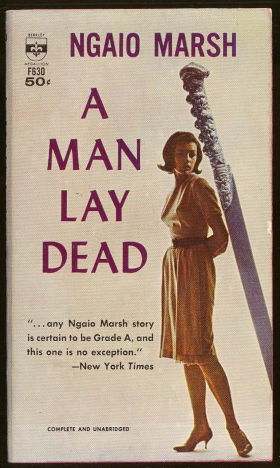 Ngaio Marsh: A Man Lay Dead GGA noir pb pointed bosom heels sword
