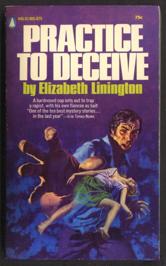 Elizabeth Linington: Practice to Deceive GGA noir pb dead woman open blouse