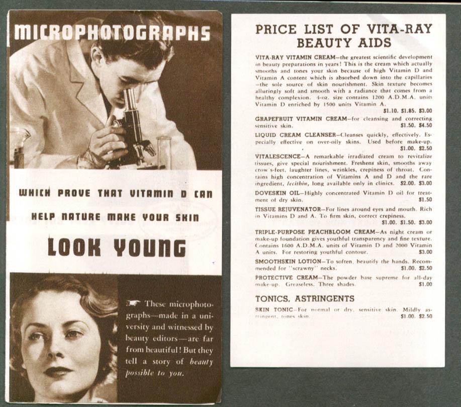 Vita-Way Vitamin Cream Look Young Beauty Aids folder 1930s