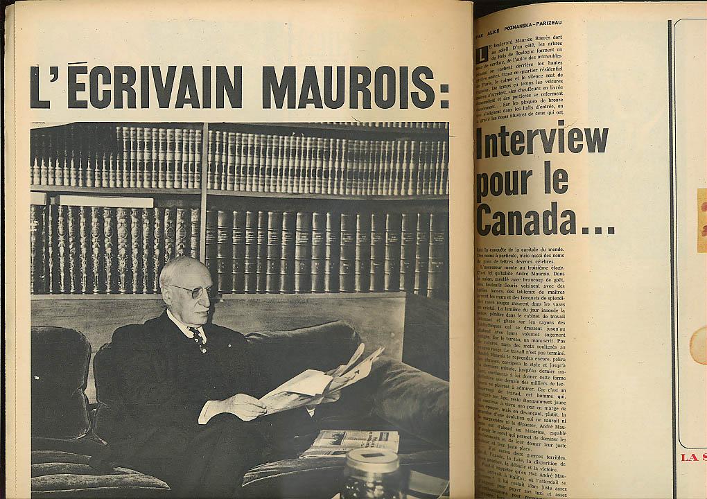 Pope Paul VI Fateux-Masse Andre Maurois MAGAZINE de la PRESSE 8/17 1963