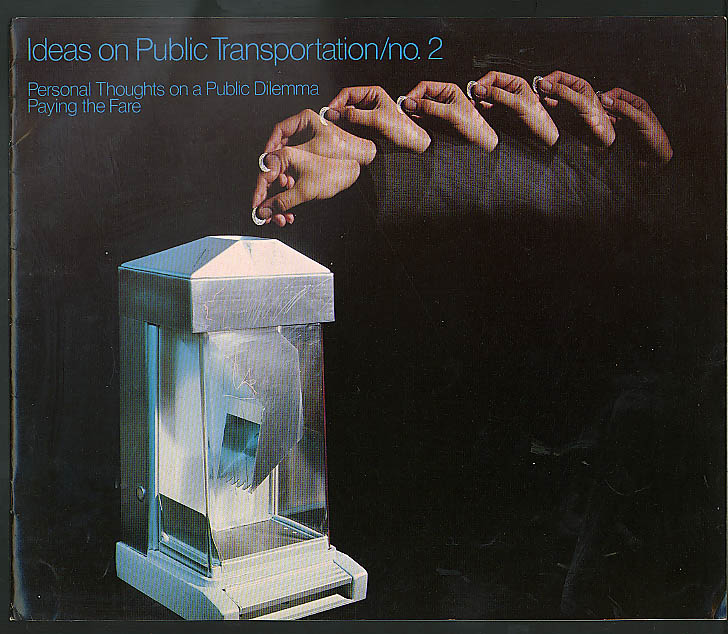 ARCO Ideas on Public Transportation #2 Paying the Fare brochure 1975