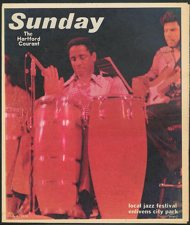 Bushnell Park Jazz Festival Israel Putnam HARTFORD COURANT SUNDAY 7/4 1976