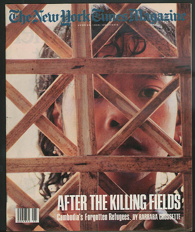 NEW YORK TIMES MAGAZINE Brian Wilson Cambodia Refugees Mary Anne Dolan 6/26 1988