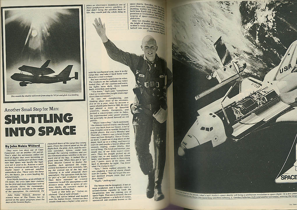 NEW YORK TIMES MAGAZINE Space Shuttle New Tycoons of Hollywood 8/7 1977